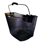 BLACK Front Mesh Basket with Holder